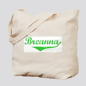 Breanna Vintage (Green) Tote Bag