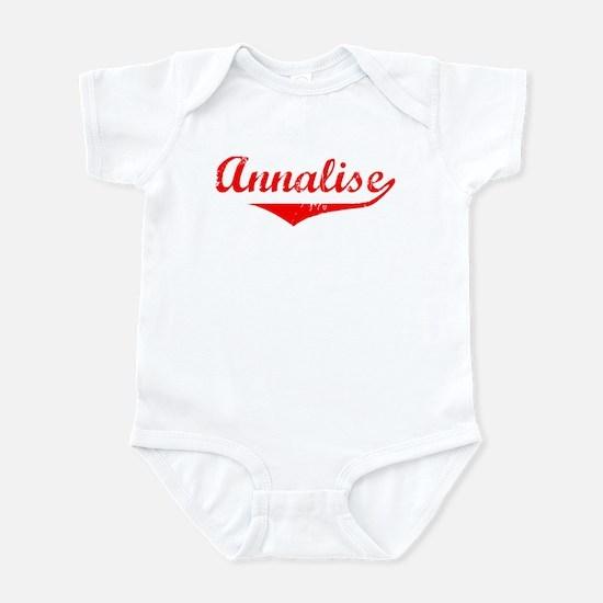 Annalise Vintage (Red) Infant Bodysuit