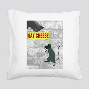 SAY CHEESE Square Canvas Pillow