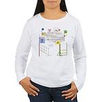 Snooker Math Women's Long Sleeve T-Shirt