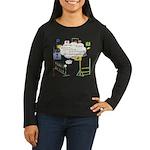 Snooker Math Women's Long Sleeve Dark T-Shirt