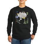 Snooker Math Long Sleeve Dark T-Shirt