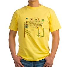 Snooker Math Yellow T-Shirt