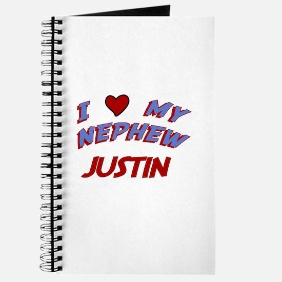 I Love My Nephew Justin Journal