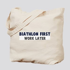 Biathlon First Tote Bag