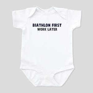 Biathlon First Infant Bodysuit