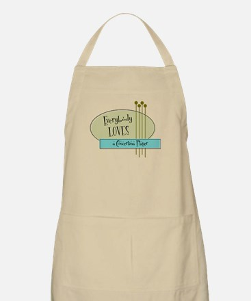 Everybody Loves a Concertina Player BBQ Apron