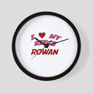 I Love My Niece Rowan Wall Clock