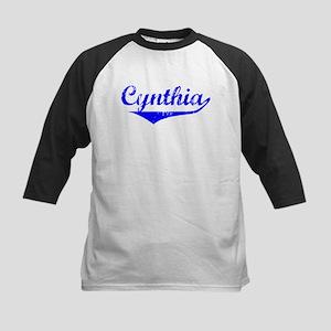 Cynthia Vintage (Blue) Kids Baseball Jersey