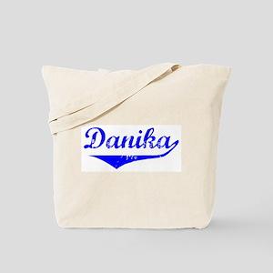 Danika Vintage (Blue) Tote Bag