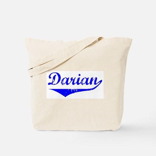 Darian Vintage (Blue) Tote Bag