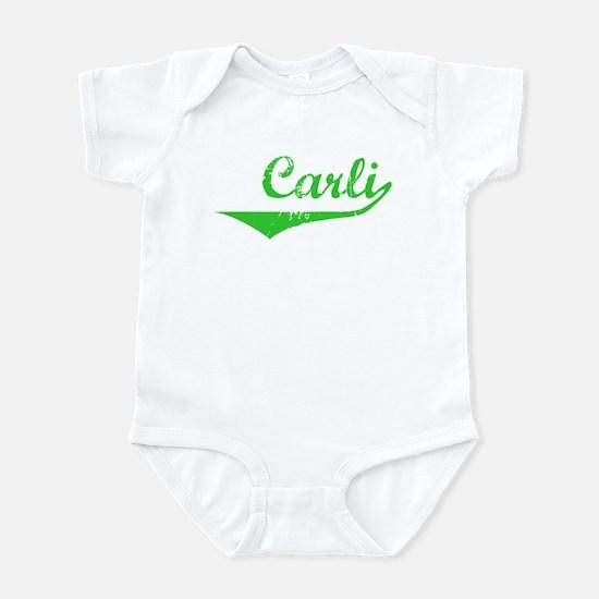 Carli Vintage (Green) Infant Bodysuit