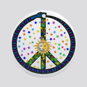 Solstice Peace Round Ornament