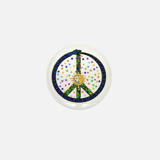 Solstice Peace Mini Button