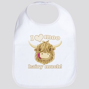 Wee Hamish Loves Moo! Bib