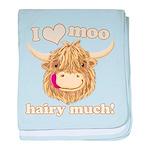 Wee Hamish Loves Moo! baby blanket