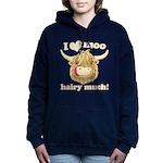 Wee Hamish Loves Moo! Women's Hooded Sweatshirt