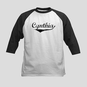 Cynthia Vintage (Black) Kids Baseball Jersey