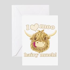 Wee Hamish Loves Moo! Greeting Cards