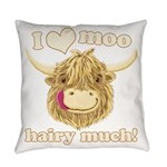 Wee Hamish Loves Moo! Everyday Pillow