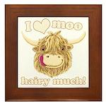 Wee Hamish Loves Moo! Framed Tile