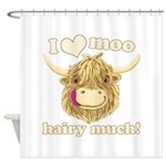 Wee Hamish Loves Moo! Shower Curtain