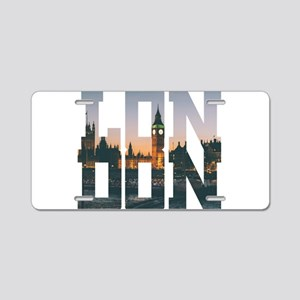 London england city – Typo Aluminum License Plate