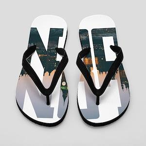 London england city – Typo Flip Flops