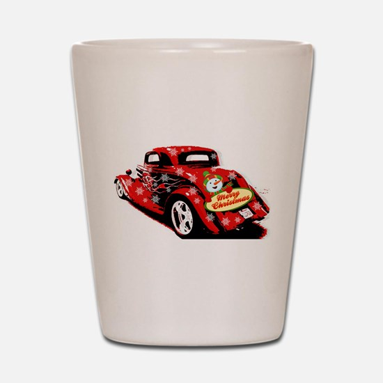 Christmas Hot Rod Shot Glass
