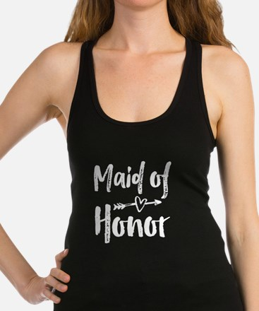 Maid of Honor (White) Racerback Tank Top