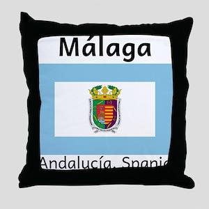 Malaga Provins Throw Pillow