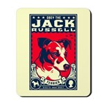 Obey the Jack Russell! Mousepad
