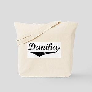 Danika Vintage (Black) Tote Bag
