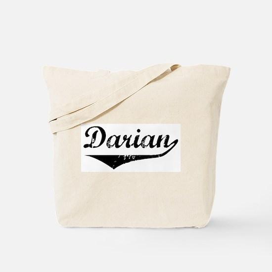 Darian Vintage (Black) Tote Bag