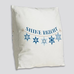 Shine Bright Burlap Throw Pillow