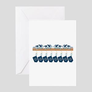Hanukkah Mantle Greeting Cards