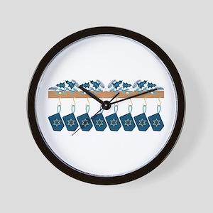 Hanukkah Mantle Wall Clock