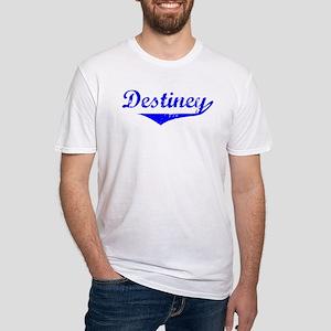 Destiney Vintage (Blue) Fitted T-Shirt