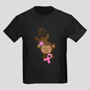 Breast Cancer Ribbon Monkey T-Shirt