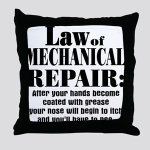 Law of Mechanical Repair: Throw Pillow