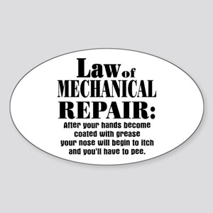 Law of Mechanical Repair: Sticker (Oval)