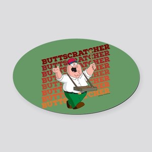 Family Guy Buttscratcher Oval Car Magnet
