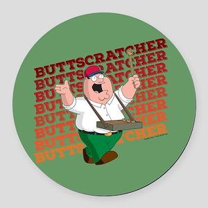 Family Guy Buttscratcher Round Car Magnet
