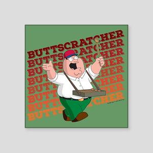 "Family Guy Buttscratcher Square Sticker 3"" x 3"""