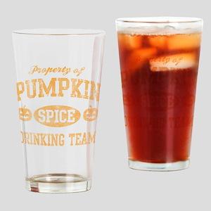 Pumpkin Spice Drinking Team Hallowe Drinking Glass