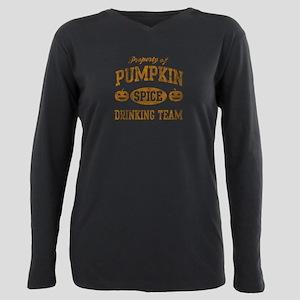 Pumpkin Spice Drinking T Plus Size Long Sleeve Tee