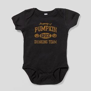 Pumpkin Spice Drinking Team Hallowee Baby Bodysuit