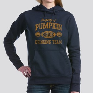 Pumpkin Spice Drinking T Women's Hooded Sweatshirt