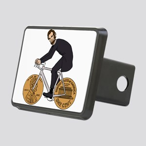 Abraham Lincoln On A Bike Rectangular Hitch Cover