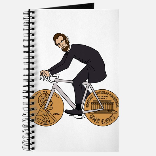 Abraham Lincoln On A Bike With Penny Wheel Journal